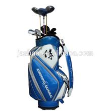 PU Leather Glossy PU golf cart bag with good quality