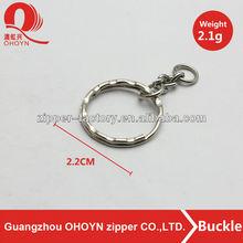 Fashion nickel color round shape key ring