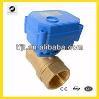 TF CWX-15Q mini brass motorized ball valve for water treatment,HAVC,automatic control