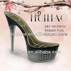 FH316 ABS ladies platform shoe heels/ fashion shoe soles for women shoes