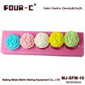 Rosa de chocolate del molde de silicona, la decoración de chocolate del molde, 3d molde