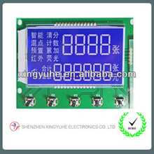 Segmental blue number display board