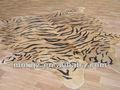 piel de vaca natural de la piel de cuero alfombras con el patrón de tigre