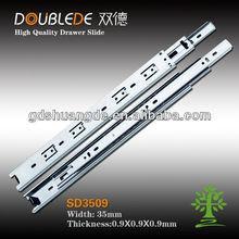 3509 3-fold ball bearing drawer slide/plastic kitchen cabinet clips/cabinet sliding door hardware