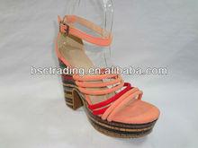 2015 LATEST High Heel Wooden Brand Sandals for Women