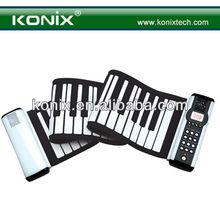 Roll Up Portable Electronic Keyboard Piano Thick Keypad 61 Keys w/ 3D Music MIDI