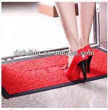 2015 Red Rubber Polypropylene Fiber Anti slip Water-proof Floor mat/Door mat Wholesale