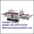 forte in acciaio inox corpo trasportatore forno per pizze