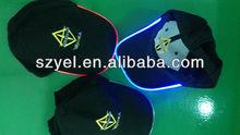 Hip hop kids/ladies/men Equalizer Custom design EL/ fiber optic baseball CAPS/HATS online shopping