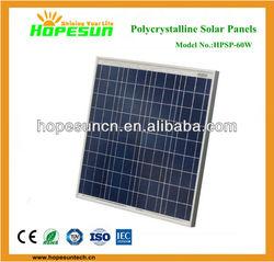 Best price per watt solar panel 60W poly pv panel