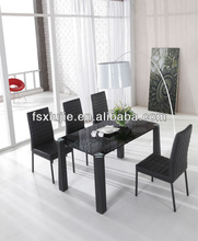 L856 Latest Metal Frame Glass New Design Dining Table