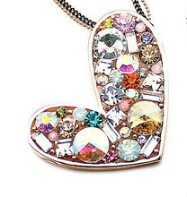K225 Peach Heart Long Chain Lowest Price The Whole Network 100Pcs Mix Items And Colors Wholesale