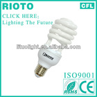 High quality 8000 hours T3 9mm half spiral CFL energy saver lamp made in China