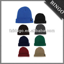 2013 HOT Sale Acrylic Knitted beanie with embroider logo