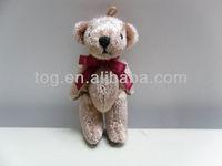6cm Mini Plush joined Teddy Bear & Movable Arm / Leg