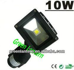 IP65 outdoor use PIR 10W sensor led flood light