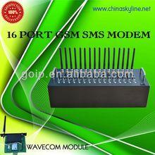 WAVECOM MODULE, RJ45 GSM modem 16 port for high speed sending sms/mms,quad band gsm modem