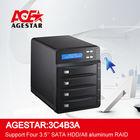 All aluminum RAID storage systemUSB3.0 Four Bay HDD Enclosure 3.5 hard disk case hard disk cartridge