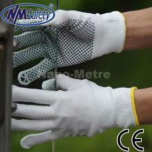 NMSAFETY pvc dot cotton safety hand gloves on palm