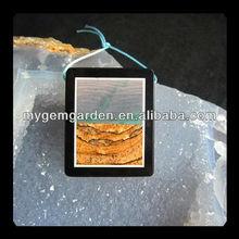 Wave Stone,Picture Jasper,Black Stone Intarsia Pendant Bead