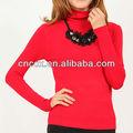 13stc5126 las mujeres de cuello alto suéter de diseño más recientes túnicas