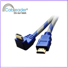 1080P ETHERNET BLURAY 3D TV DVD right angle hdmi 1.4 cable