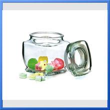 airtight mini glass jars with lid/glass herb storage jars
