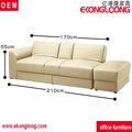 Barato capa de couro sofá de canto da cama/folding sofá-cama de couro com ottoma e armazenamento