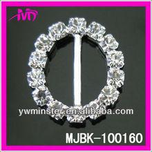 beauty fashion buckles round diamond rhinestone sash buckle for wedding