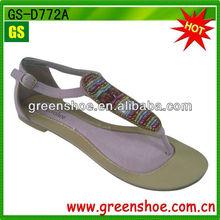 Womens Summer Gladiator Studded Rhinestones Sandals Roman Thongs Flats T Strap