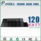 120W 18V 19v DC&USB PET cloth mono solar panel Portable solar laptop charger