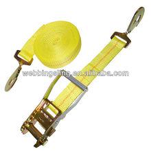 """2"""" cargo lashing strap belt with snap hooks"""