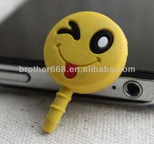 2014 custom cute mobile phone dust plug