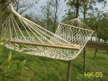 garden rope wooden mesh hammock