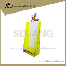 Retail store cardboard counter top hook earring display stand