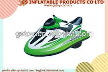 PVC durable cool green motorized inflatable jet ski jet ski sea doo EN71 approved