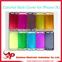 Replacement Color Hard Metal Back Battery Housing Cover For iphone 5 5G repair parts