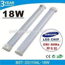 85-265V AC wide range voltage 50/60HZ flexible 18w 2g11 pl led bulb light