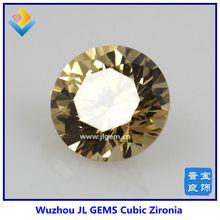 Lab Created Round Champagne Cubic Zirconia CZ Gemstone