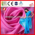 100% de poliéster saris georgette tela para las mujeres
