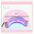 12w secador de uñas uv led de la lámpara en punta de las uñas consejos de arte