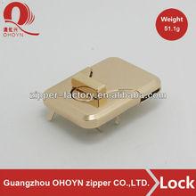 Fashion flap bag lock accessory handbag lock wholesale light gold bag lock No.514A0136