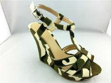 Sexy fashion canvas upper shide green woman shoes fashion 2013