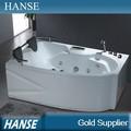 Hs-b218 venta caliente 2 persona sexo en interiores de acrílico de fibra de vidrio baño de tina