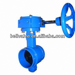 Groove Butterfly Valve Gear Operated, Worm Gear Drive Butterfly Valve, Gear Actuator Butterfly Valve