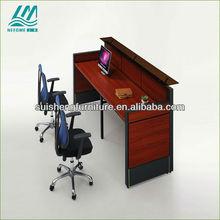2013 new design hot sale modern steel reception desk/counter table