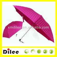 beautiful color personal mini sun 3 folding aluminum umbrella