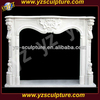 white marble fireplace mantel(FPS-C002Q)