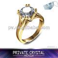 Diseños de anillos de oro para niñas hechos con circón 3A Chino