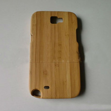 natural bamboo phone case wood case for samsung galaxy note 2